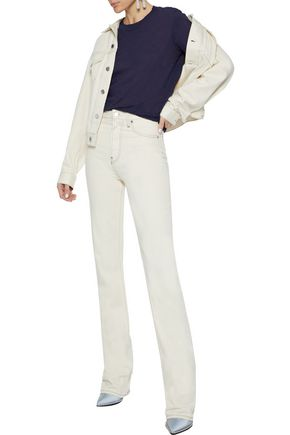 Proenza Schouler Shirts PROENZA SCHOULER WOMAN SLUB COTTON-JERSEY T-SHIRT NAVY
