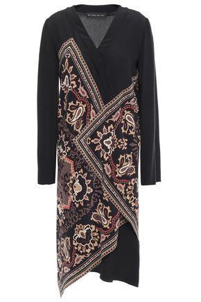 ETRO Wrap-effect printed silk crepe de chine dress