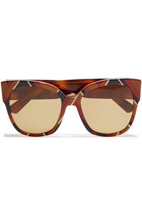 GUCCI Cat-eye printed acetate sunglasses
