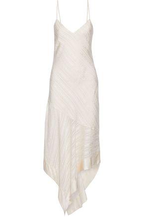 CAMI NYC The Becky asymmetric silk-jacquard midi dress