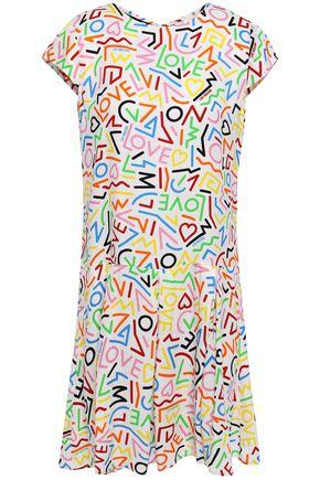 LOVE MOSCHINO Printed jacquard mini dress