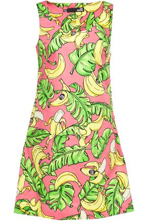 LOVE MOSCHINO Printed cotton-blend twill mini dress