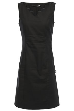LOVE MOSCHINO Cotton-blend jacquard mini dress