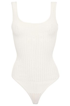 HERVÉ LÉGER Open-knit bodysuit