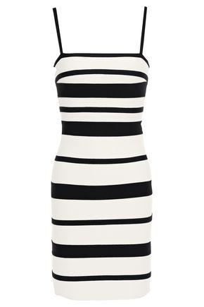HERVÉ LÉGER Striped bandage mini dress