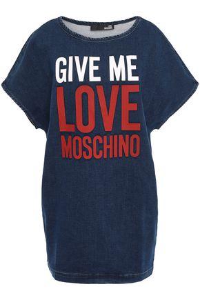 LOVE MOSCHINO Printed denim mini dress