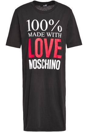 LOVE MOSCHINO プリントコットンジャージー ミニワンピース
