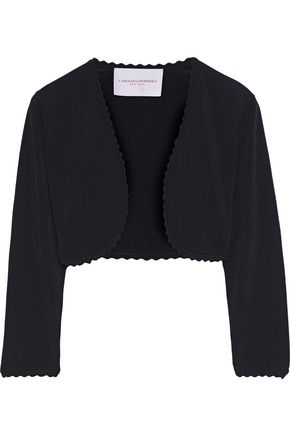 CAROLINA HERRERA Scalloped stretch-knit bolero