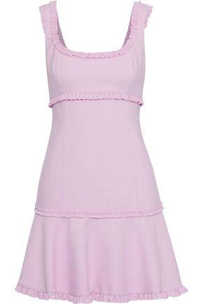 CINQ À SEPT Ana fluted ruffle-trimmed cady mini dress