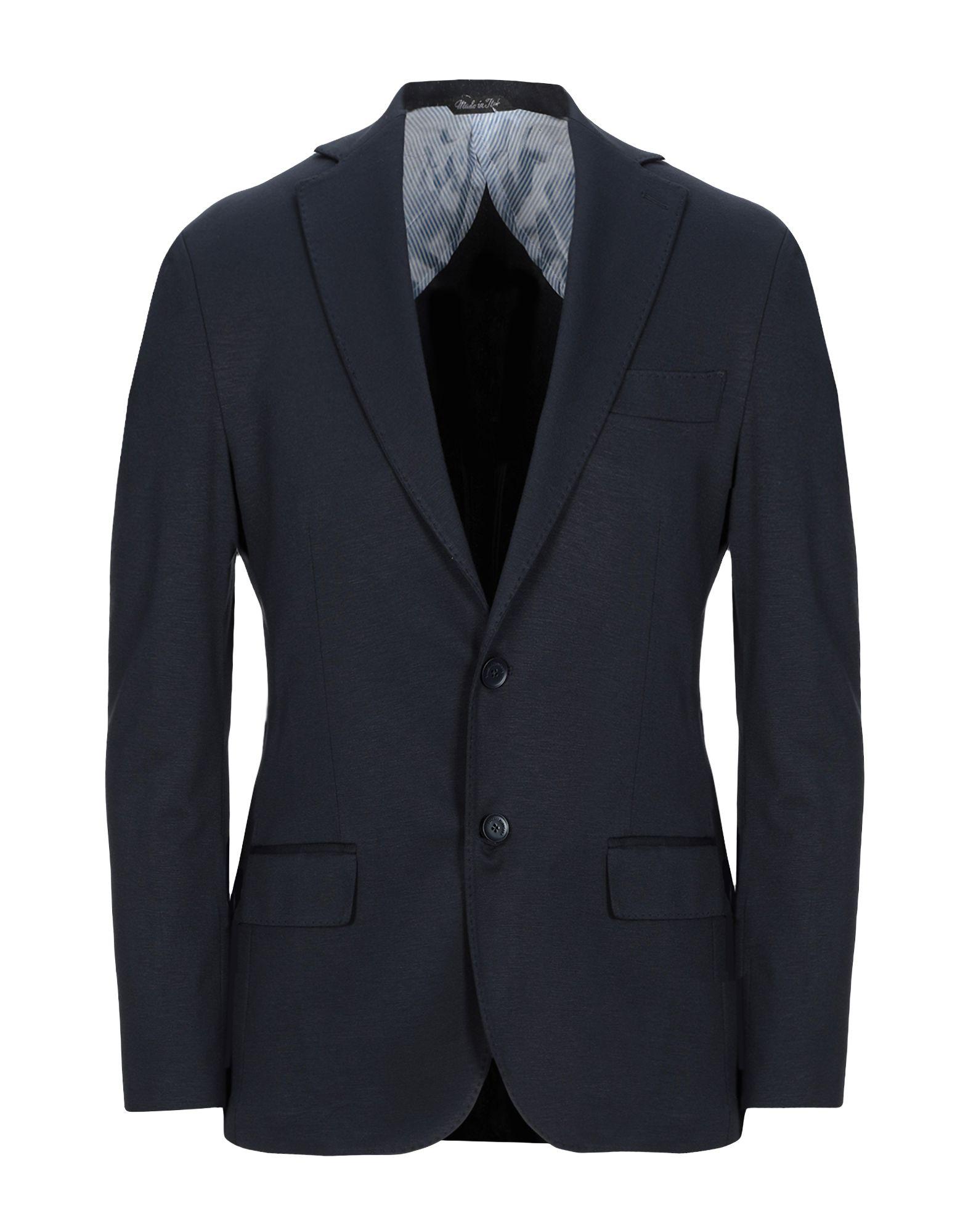 《セール開催中》TAKESHY KUROSAWA メンズ テーラードジャケット ダークブルー 46 レーヨン 65% / ナイロン 30% / ポリウレタン 5%