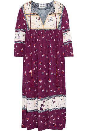 ANTIK BATIK Bowo tasseled floral-print crepe midi dress