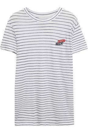 ZOE KARSSEN Love Love appliquéd striped cotton-jersey T-shirt
