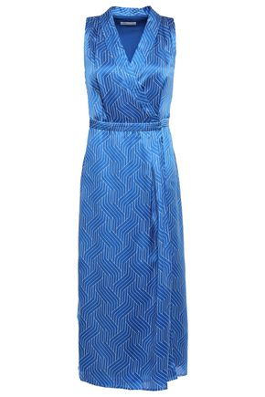 EQUIPMENT Katherine wrap-effect printed silk-satin midi dress