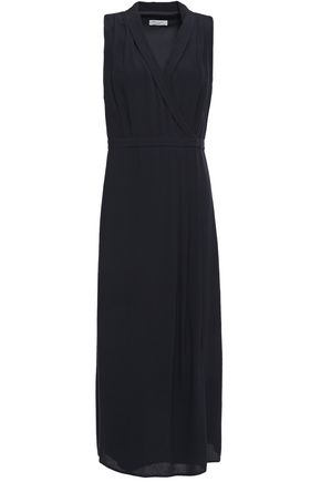 EQUIPMENT Katherine wrap-effect crepe midi dress