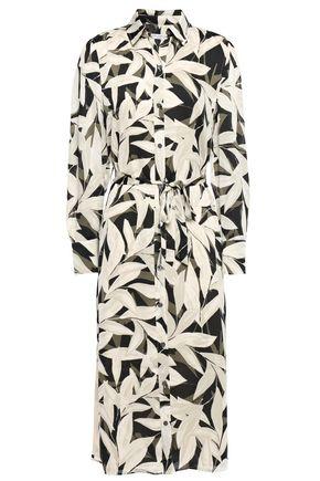 EQUIPMENT Rosalee floral-print crepe de chine midi shirt dress