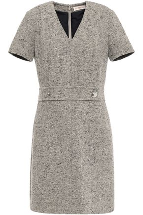 TORY BURCH Priscilla mélange linen-blend mini dress