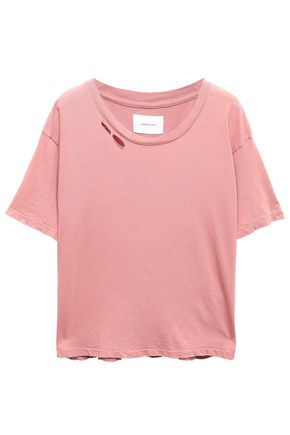 CURRENT/ELLIOTT Distressed cotton-jersey T-shirt