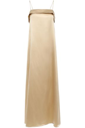 DEITAS Coco silk-charmeuse midi dress