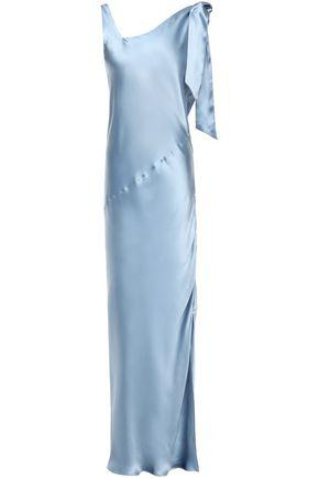 DEITAS Louise knotted silk-satin maxi dress
