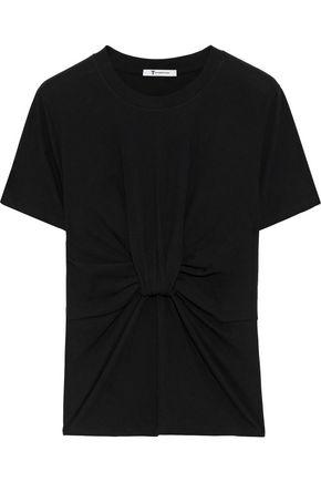 ALEXANDERWANG.T Twist-front cotton-jersey T-shirt