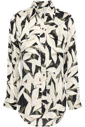 EQUIPMENT Floral-print crepe de chine shirt