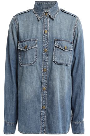 CURRENT/ELLIOTT Miner cotton-chambray shirt