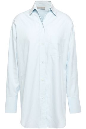 VINCE. Cotton and silk-blend twill shirt
