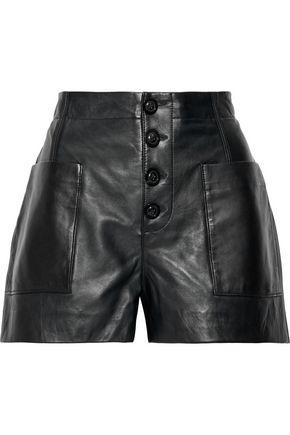 JOIE Nirel leather shorts