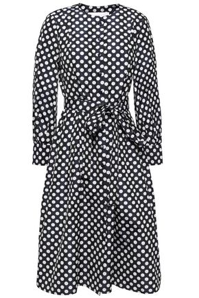 CAROLINA HERRERA Belted polka-dot jacquard dress