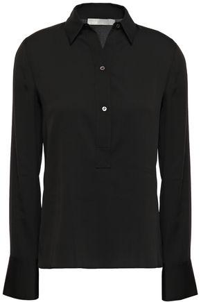 VINCE. Silk-blend crepe de chine shirt