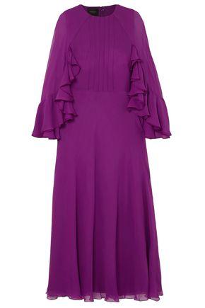 GIAMBATTISTA VALLI Cape-effect ruffled silk-georgette midi dress