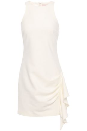 CINQ À SEPT Draped crepe mini dress