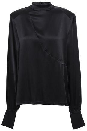 DAVID KOMA Cutout satin blouse