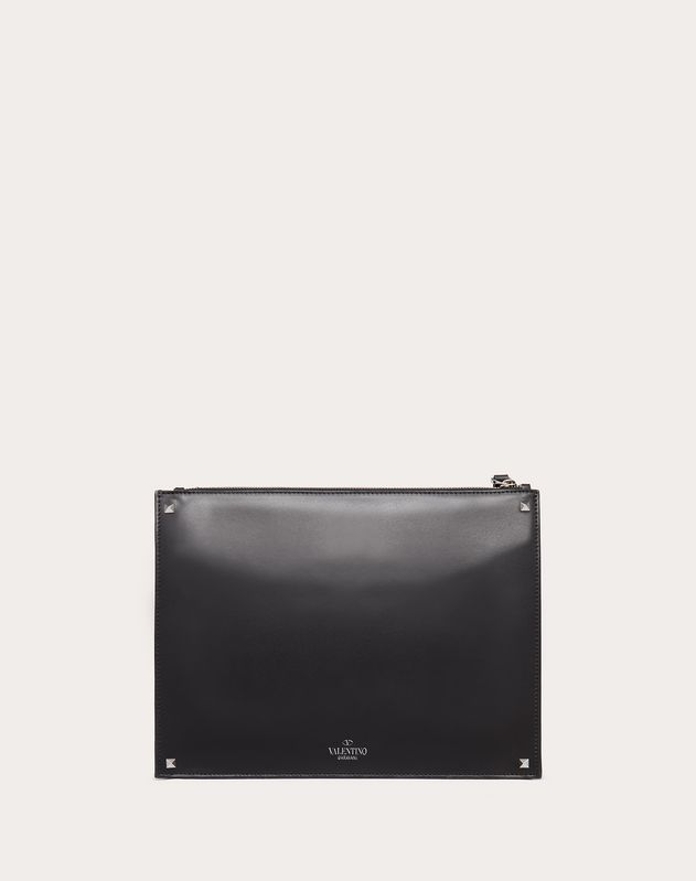 VLTN Leather Clutch