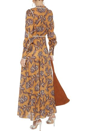 ZIMMERMANN Castile crochet-trimmed floral-print cotton-gauze maxi dress