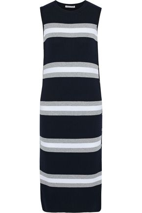 COTTON by AUTUMN CASHMERE Striped ribbed cotton midi dress