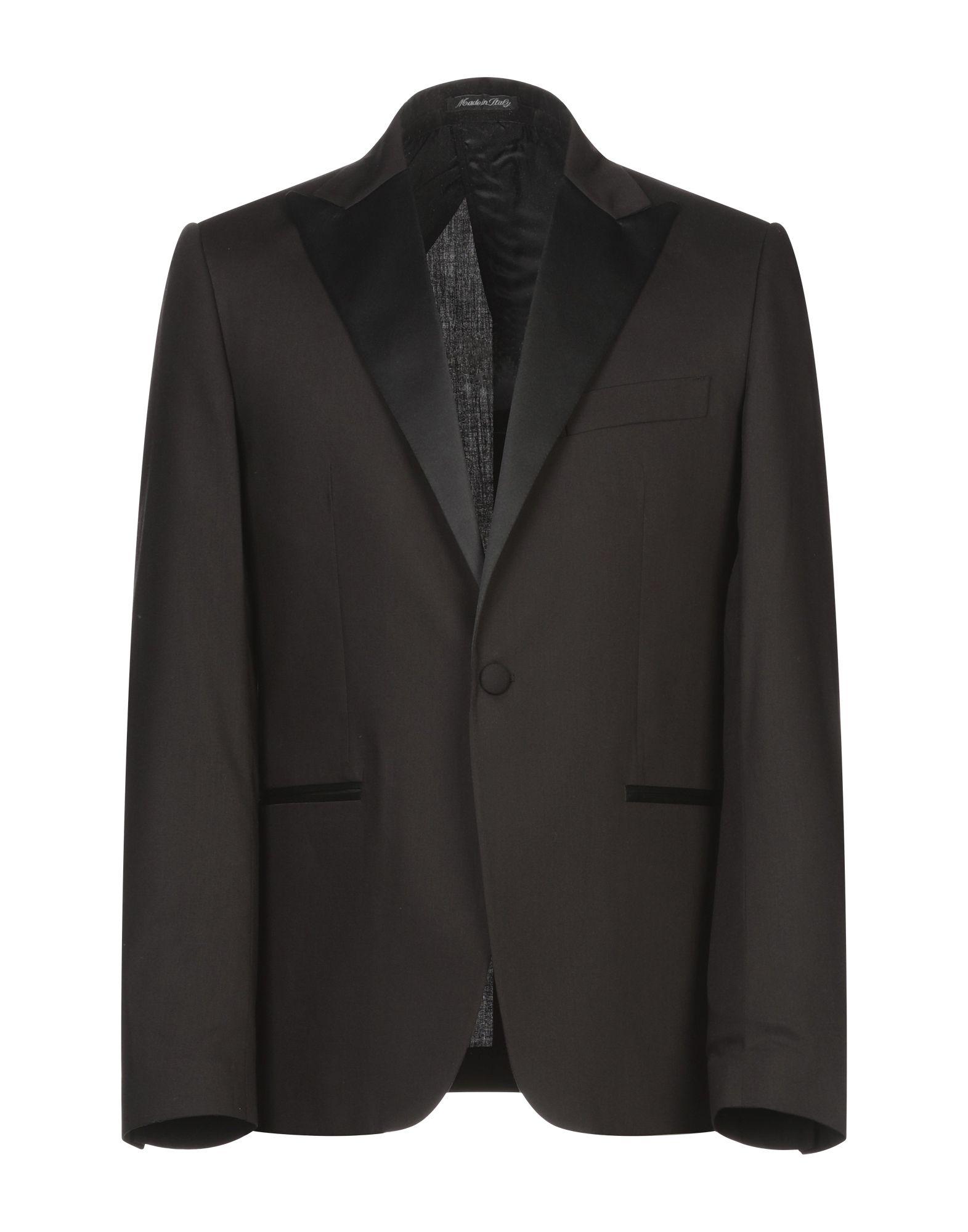 《期間限定セール開催中!》EREDI DEL DUCA メンズ テーラードジャケット ブラック 50 ポリエステル 64% / レーヨン 25% / ウール 9% / ポリウレタン 2%