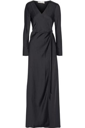 DIANE VON FURSTENBERG Satin-crepe maxi wrap dress