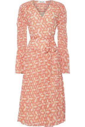 DIANE VON FURSTENBERG Ani pleated printed chiffon midi wrap dress