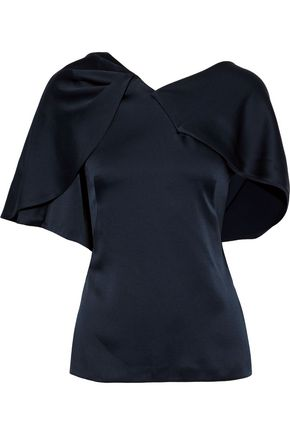 PETER PILOTTO Draped satin-crepe top