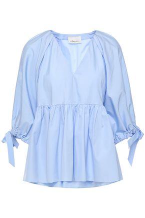 3.1 PHILLIP LIM Gathered cotton-poplin blouse