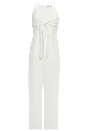 ALEXANDERWANG.T Knotted crepe wide-leg jumpsuit