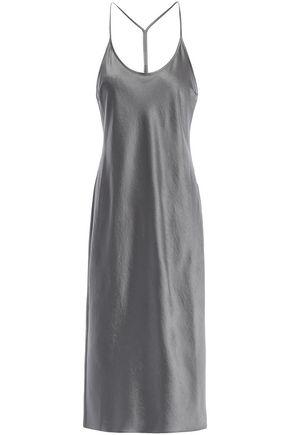 ALEXANDERWANG.T Crinkled-satin midi slip dress