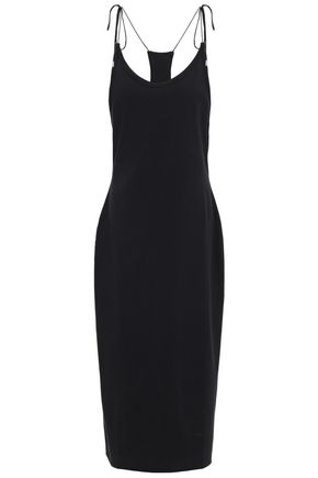 ALEXANDERWANG.T Tie-detailed cotton-jersey midi dress