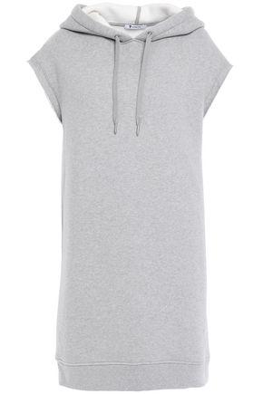 ALEXANDERWANG.T Oversized cotton-blend fleece hooded sweatshirt