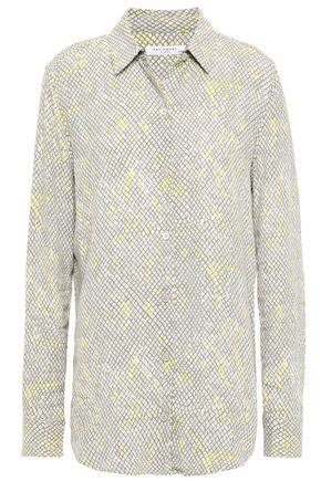 EQUIPMENT Snake-print crepe de chine shirt