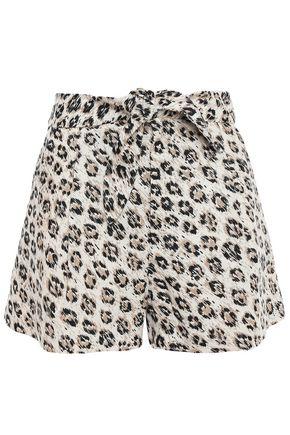 JOIE Leopard-print linen-canvas shorts