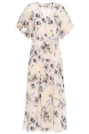 EQUIPMENT Pleated printed silk-crepe midi wrap dress