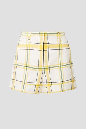 VERONICA BEARD Carito checked tweed shorts