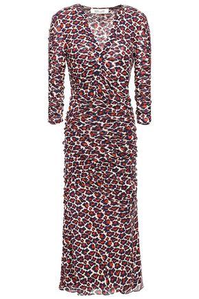 DIANE VON FURSTENBERG Briella ruched printed stretch-jersey midi dress